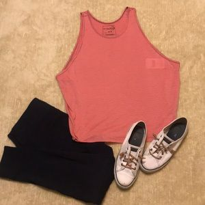 NWT FREE PEOPLE Grey/Pink Sedgwick Tank